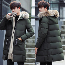 b Men Winter Jacket Thick Warm Parka Fur Hooded Military Jacket Coat Pockets Windbreaker Jacket Men Parkas Size S-3XL