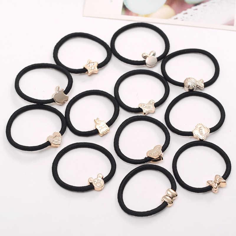 1 ชิ้นแฟชั่นหญิงตัวอักษรเกาหลีรุ่น Tie ผมผู้หญิงกล่องคุณภาพสูงยืดหยุ่นวงแหวนผมอุปกรณ์เสริมผม