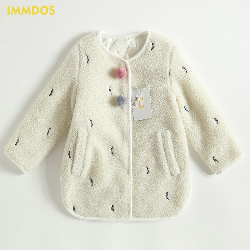 IMMDOS Baby Winter Clothing Children Coat For Girl Kids Long Sleeve Clothes Girls Fashion Jacket 2018 New Year Cute Outerwear immdos winter new arrival down jacket for boy children hooded outwear kids thick coat baby long sleeve pocket fashion clothing page 3