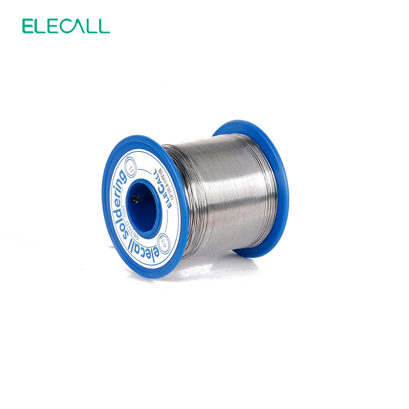 ELECALL New Arival 63/37 Tin 0.8mm 450g Wire Tin /Lead 0.8mm Rosin Roll Flux Reel Lead Melt Core Soldering Tin Solder Wire qitian b5510200g lead tin soldering wire wick roll silver