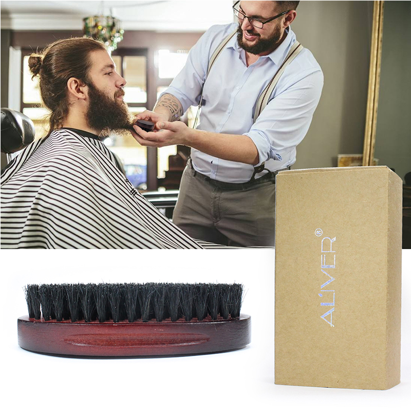 Natural Boar Bristle Beard Brush For Men Bamboo Face Massage That Works Wonders To Comb Beards And Mustache With Box