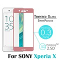 For Sony Xperia X 3D Curved Surface Full Screen Cover Coverage 9H Explosion-proof Tempered Glass Film For XA Dual F3113 F3112