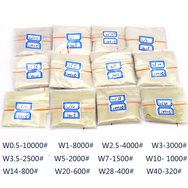 URANN 20g/bag 320~10000 Mesh Diamond Powder Jade Polishing Powder Jade Handmade Processing Mirror Diamond Micro Powder