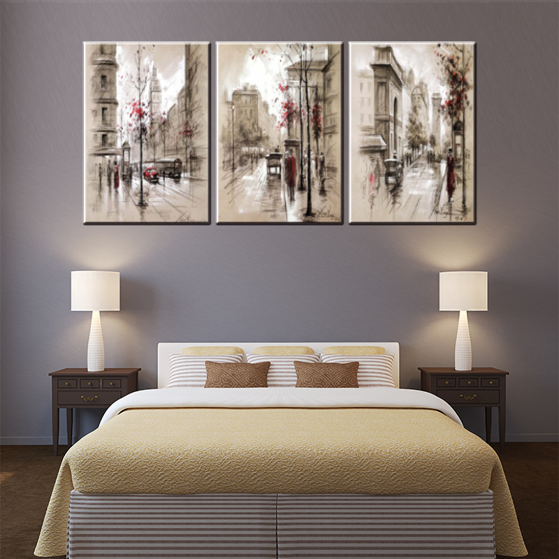 hot sales 3 panel canvas oil painting printed on canvas for living room wall art craft home decor pictures pub bar cafe