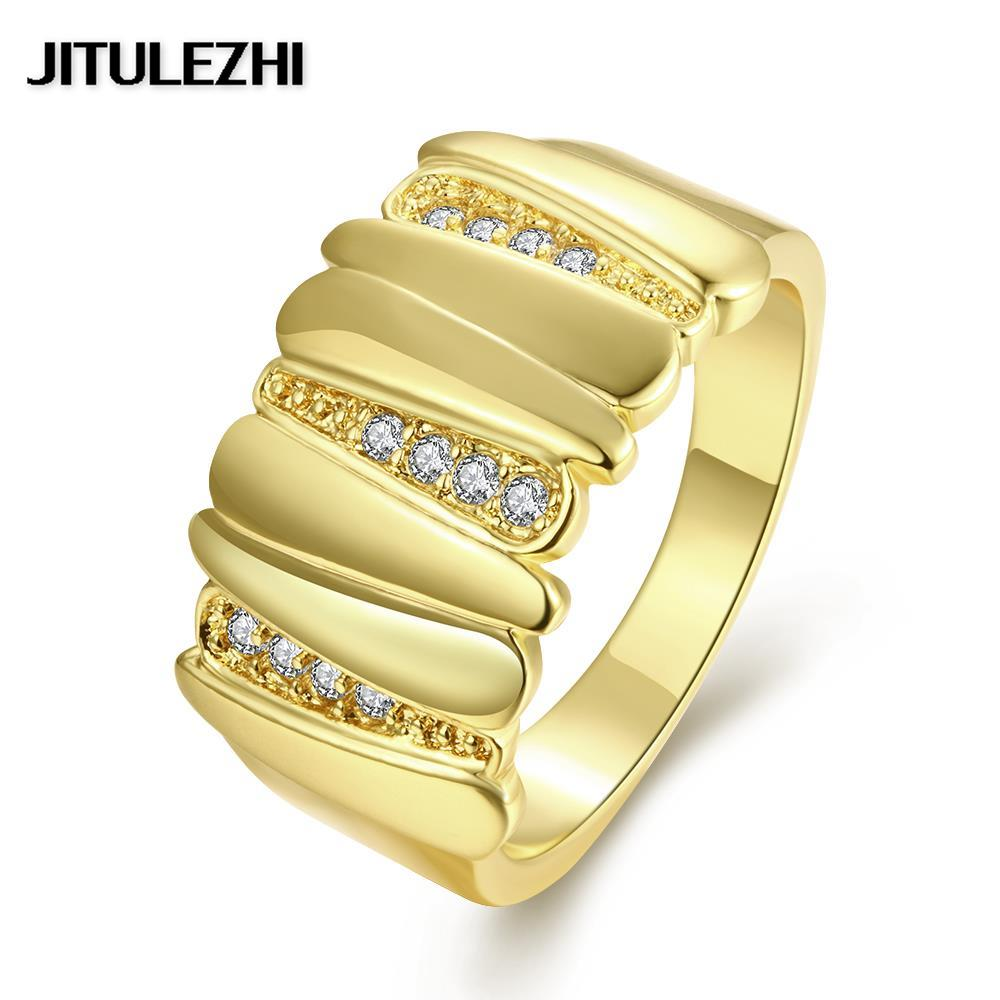 gold color rings for women men anillos mujer wedding jewelry ring rose gold original designs jewelry - Mens Gold Wedding Ring