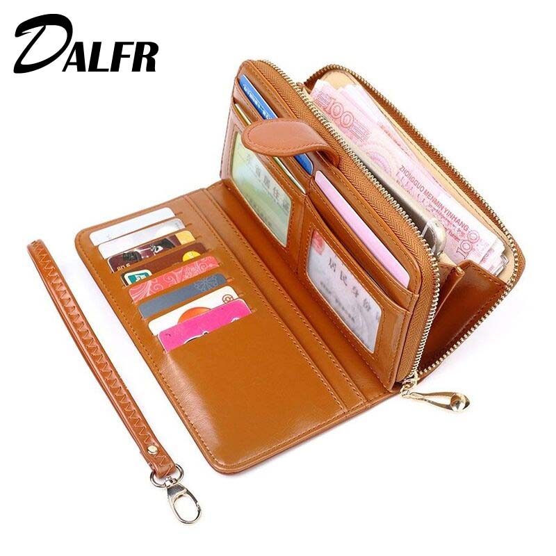 Leather Women Wallets Female Zipper Small Wallet Case Women Short Coin Purse Holders Retro Wallet and Purses DALFR herald fashion nubuck leather women wallets female zipper small wallet women short coin purse holders retro wallet and purses
