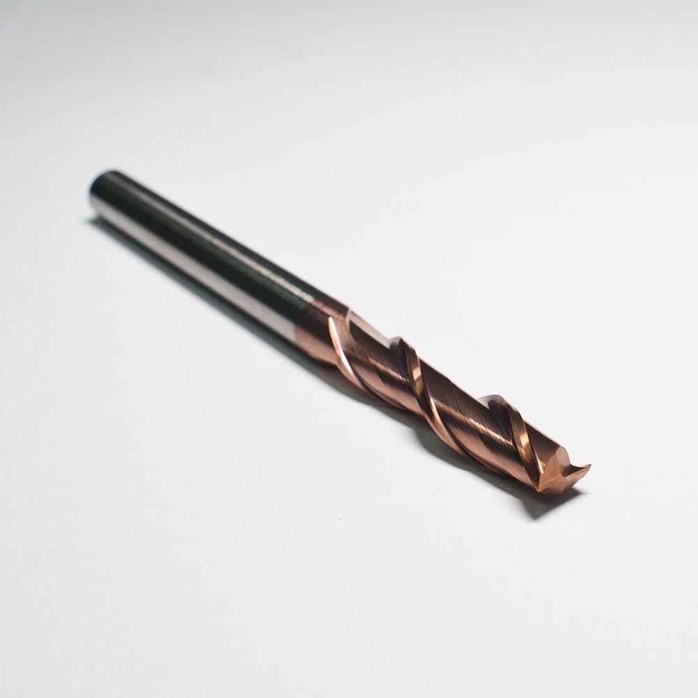 Cortadores planos de carburo de tungsteno AHNO 2 flautas longitud estándar HRC55 outlet de fábrica de alta calidad en China