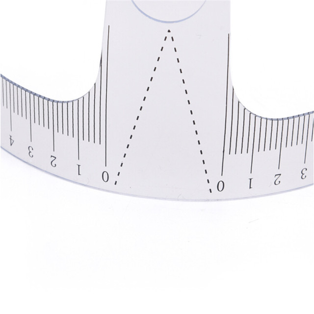 1Pc Eyebrow Grooming Stencil Shaper Ruler Measure Tool Makeup Reusable Eyebrow Ruler Tool Measures 3