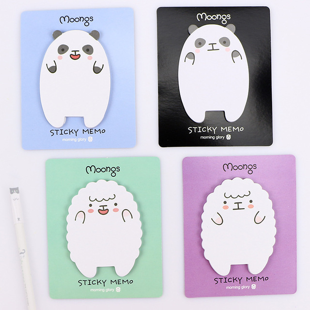 Coloffice Cute cartoon Lamb bear 4 colors memo pads Post It memo sticker sticky notes Gift Stationery School office suppliers