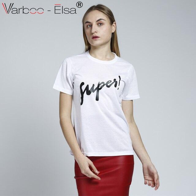 43ff41e22e6 VARBOO ELSA Plus Size Harajuku Summer T Shirt Women New Arrivals letter  Printed T-shirt Woman Tee Tops Casual Female T-sh