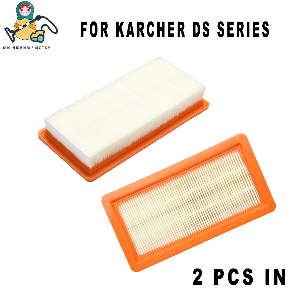 2-Pack CLEAN DOLL Filter For Karcher Vacuum Cleaner DS5500 DS6000 DS5600 DS5800 K5500 6.414-631.0 Karcher DS 5500 DS 5600 Filter