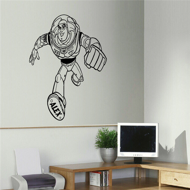 Large Toy Story Personalised Wall Art Transfer Sticker Decal Wall Stickers For Kids Bedroom Cute Cartoon & Large Toy Story Personalised Wall Art Transfer Sticker Decal Wall ...