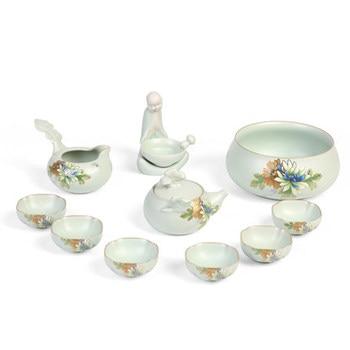 Japanese-style technology Kung Fu tea sets home hand caught teapot tea cups set gift box