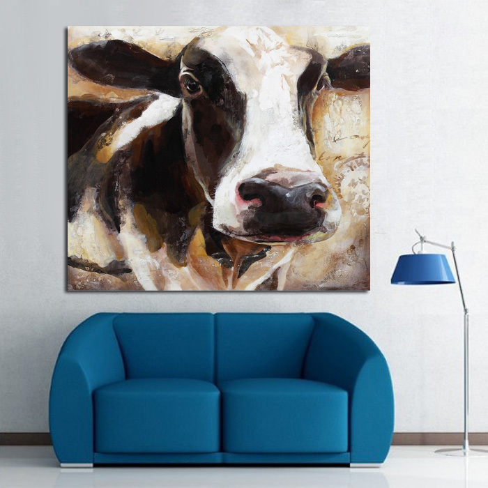 Modern Art 100Handpainted Animal Oil Painting Cow Paintings On Canvas Wall Pictures For Home