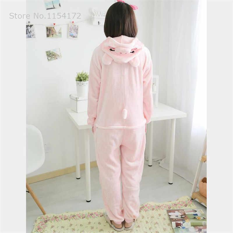 Kigurumi Розовый pig onesies пижамы мультфильм животных Косплей Костюм пижамы комбинезоны для взрослых одежда для сна Хэллоуин