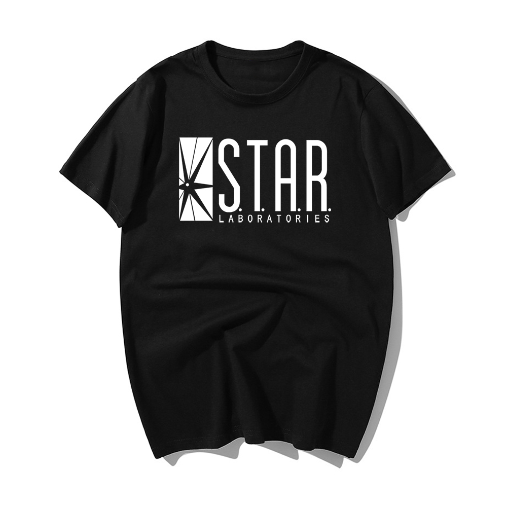 STAR Labs New Fashion T Shirt Men Summer Tops Tees Jumper The Flash Gotham City Comic Books Superman Tv Series Men's T-shirt image