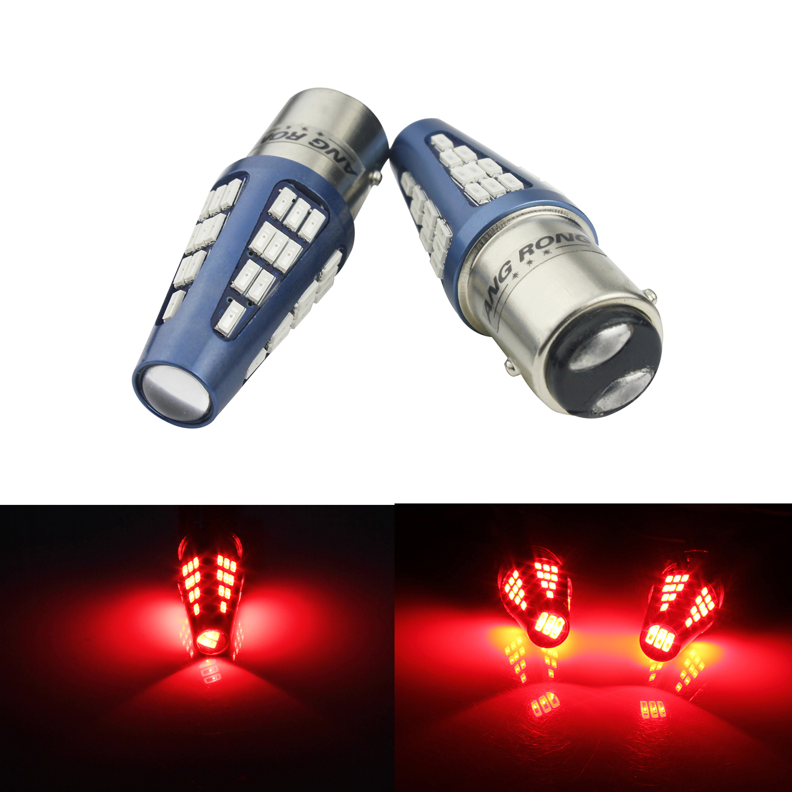 5Pair BAY15D 1157 Red Car Tail Stop Brake Lights Bright 50 SMD LED Bulbs 12V US