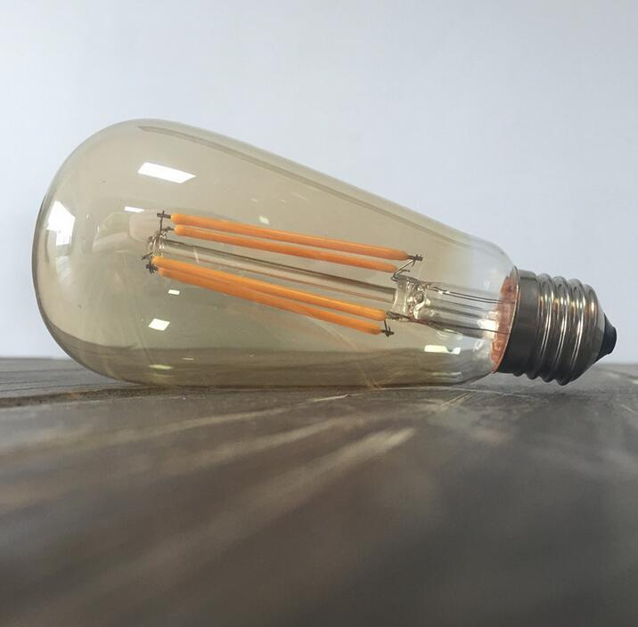 Retro LED Filament Light Bulb Dimmable ST64 E27 220V 4W 6W 8W Smart IC Driver No Flicker Low Heat Replace Edison Bulb