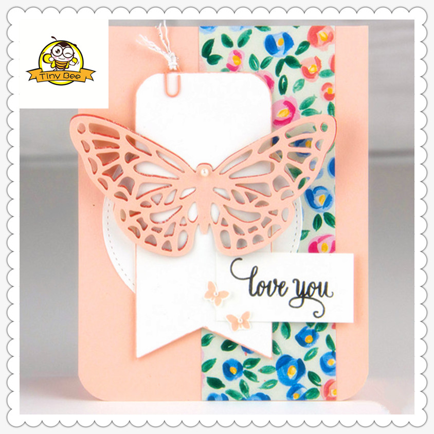 Butterfly Flower Dies Metal Cutting Dies and Clear Stamps sets for Scrapbooking for DIY Card Making Cutting Crafts Stencil Dies in Cutting Dies from Home Garden