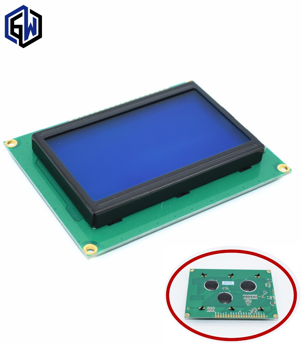 5pcs/lot LCD 12864 128x64 LCD12864 Dots Graphic Blue Color Backlight LCD Display Shield 5.0V