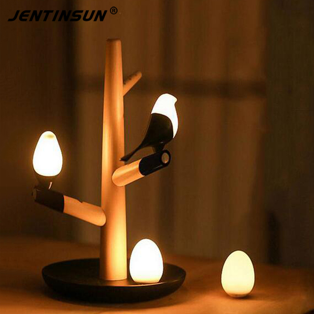 2017 creative bird trees led table lamp intelligent night light with 2017 creative bird trees led table lamp intelligent night light with motion sensor lighting usb rechargeable aloadofball Images