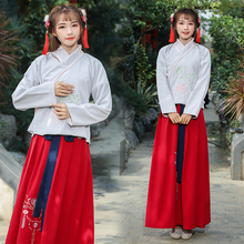 7e7de3870 2019 new chinese folk dance straight cloak clothing hanfu women ancient  costume chivalrous knight errant female