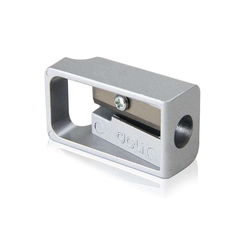 Creative Silver Metal Mini Pencil Sharpener Cutter For Student High Quality Brand Stationery Pen Knife Office School Supplies