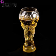 CAKEHOUD High Quality New World Cup Beer Mug 450ml Football Modeling Glass Beer Mug Crystal Whiskey Cup Bar Beer Party(China)