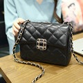 2016 New Brand designer women small messenger bag Chains PU leather shoulder bag fashion vintage girls evening party bag