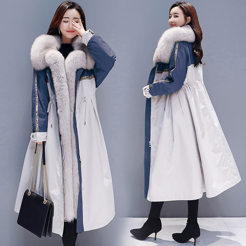 Winter coat women s jacket 2019 new Korean version of the long section of cotton padded
