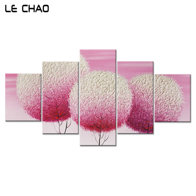 Wall Canvas Art Pink Dandelion Canvas Art Print Painting Poster ...