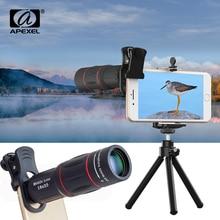 APEXEL Telefon Lens 18X Telescope Scene Zoom Camera Lenses with Tripod for iPhone Xs max 7 8 Plus Xiaomi Samsung Dropshipping