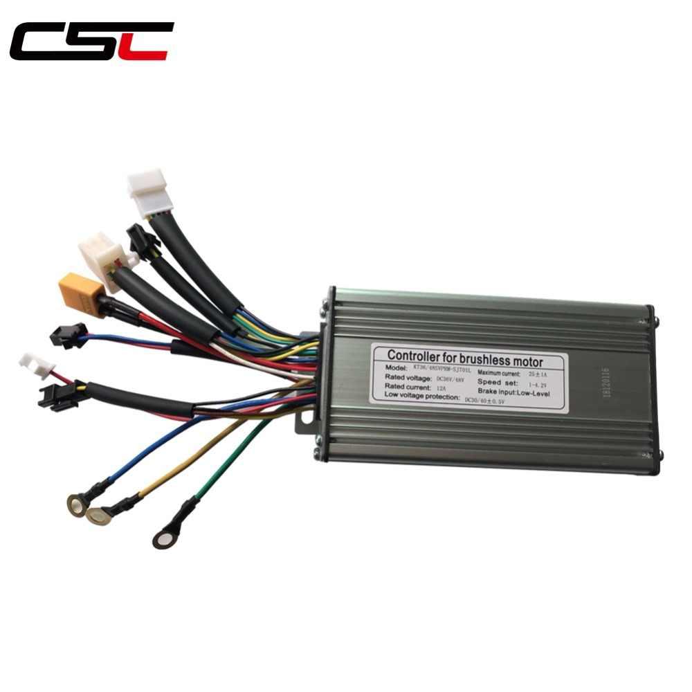 LCD3 display E-bike 36V//48V 500W//750W 25A Brushless DC Sine Wave Controller