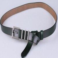 Wild Leather Thin Belt Female Casul Belt Korean Trend Fashion Style Black Coat Waist Leather Girdle