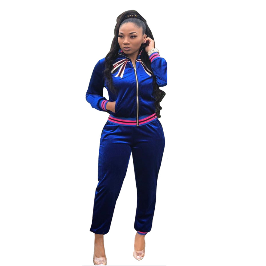 Intelligent New Popular Women Velvet Jumpsuit Two Pieces Winter Long Sleeve Bodysuit Pocket Sexy Full Length Overalls Suj4529 Catalogues Will Be Sent Upon Request Women's Clothing