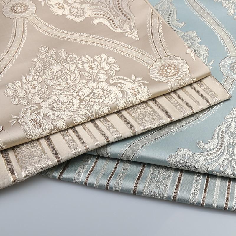 1 mètre de tissu Jacquard de haute qualité pour canapé tissu rideau coussin chaise Table siège Floral fleur Tissus d'ameublement