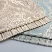 1 meter High Quality Jacquard Fabric For Sofa Cloth Curtain Cushion Chair Table Seat Floral Flower Upholstery Material Tissus