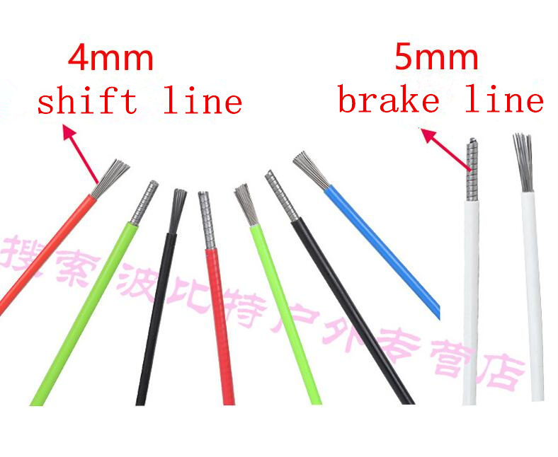 Bicycle Brake Line Tube Hose Transmission Shift Line Cable Wire Feeding Tube 1 Meters Bulk With 2 Caps