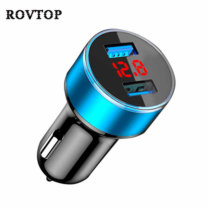 3.1A Dual USB Car Charger 2 Port LCD Display 12-24V Cigarette Socket Lighter Fast Portable Charger Power Adapter Car Styling #2