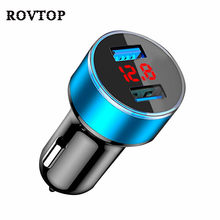 3.1A Dual USB Car Charger 2 Port LCD Display 12-24V Cigarette Socket Lighter Fast Portable Charger Power Adapter Car Styling #2(China)