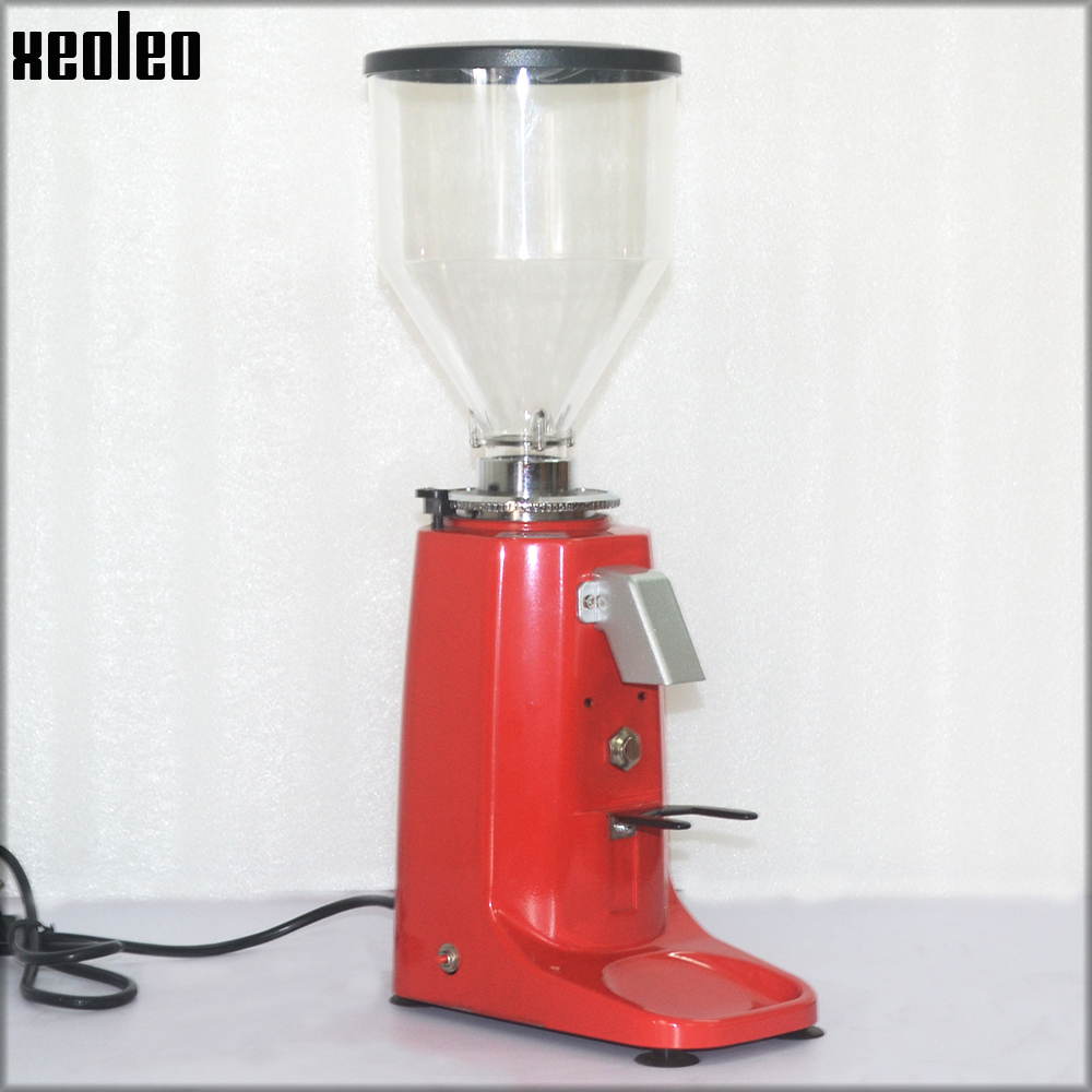 XEOLEO Professional Coffee grinder Aluminum Electric Coffee grinder 250W Blade Coffee Miller Milling machine Black/Red xeoleo professional coffee grinder commercial coffee powder milling machine electric coffee bean grinding machine coffee maker