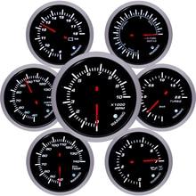 Voltmeter Pressure-Gauge Oil-Temp-Oil Tacometro Boat-Motor Boost-Psi Car 60mm