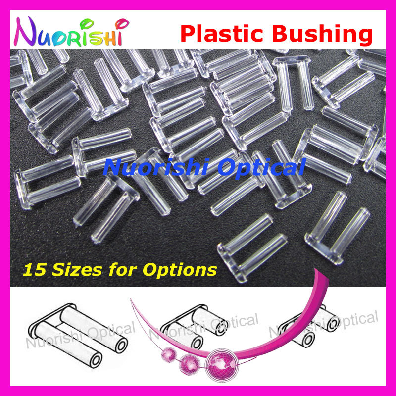 15 Sizes 5000pcs Plastic Doulbe Single Bushing Silhouette Screws Pins For Rimless Glasses Eyeglasses Free Shipping