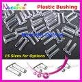 15 tamanhos 5000 pcs Doulbe Plastic único bucha parafusos pinos para óculos óculos sem aro silhueta frete grátis P4040