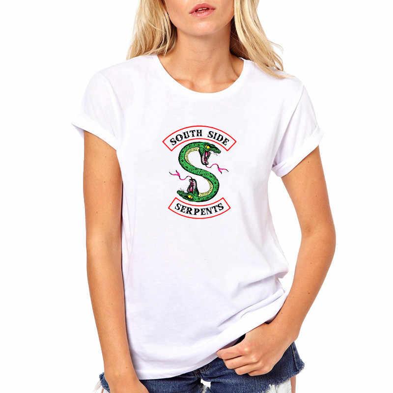 2019 Riverdale T shirt Women Summer Tops SouthSide Serpents Jughead Female TShirt Clothing Riverdale South Side t-shirt ulzzang