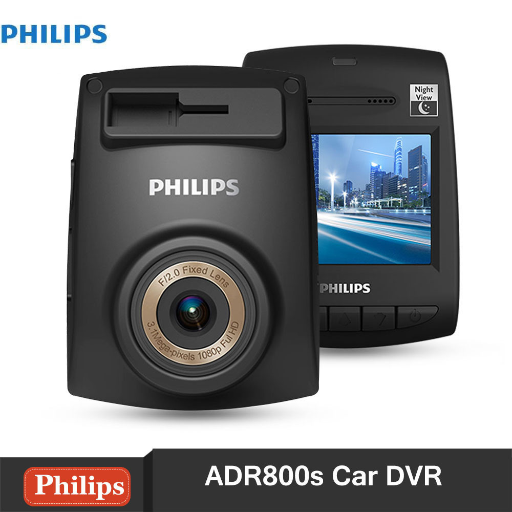 Philips ADR800s Car DVR Camera Full HD 1920 x 1080P Car Dash Cam Parking Monitor Night Vision G-sensor Driving Video Recorder liislee for volkswagen multivan car dvr mini camera driving recorder car dash cam video recorder wifi night vision