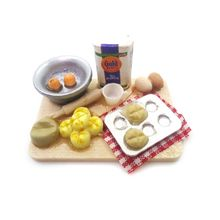 Good Quality New 1:12 Scale Dollhouse Miniature Kitchen Food Eggs Milk Bread Milk Bottles Board Play Toys for Doll Gifts стоимость