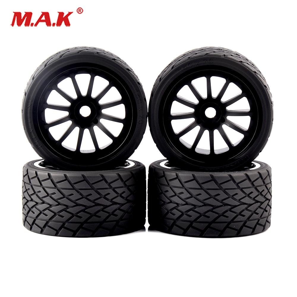4pcs/set 1/8 On-Road Bigfoot Wheels Tires& Rims 17mm Hex For 1:8 RC Model On-Road Car 26412 4pcs 3 2 rubber rc 1 8 wheels