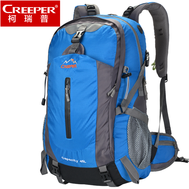 Creeper New Travel Backpack Outdoor Hiking Bag Blue Black Big Volume backpacking packs High Quality Camping Climb Backpacks 45L