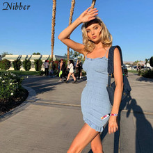 Nibber body de verano de señora, elegante para discoteca, mini vestidos de mujer de playa para vacaciones, vestido de noche de encaje elástico ajustado